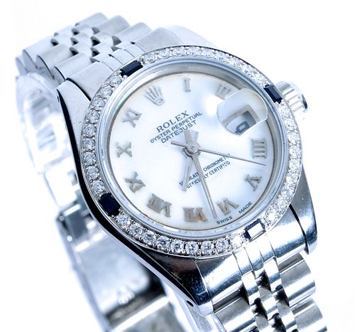 Ladies Rolex Datejust w/ Sapphire & Diamonds