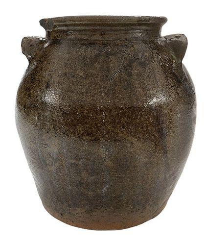 Edgefield Dave Drake Attributed Dated Storage Jar