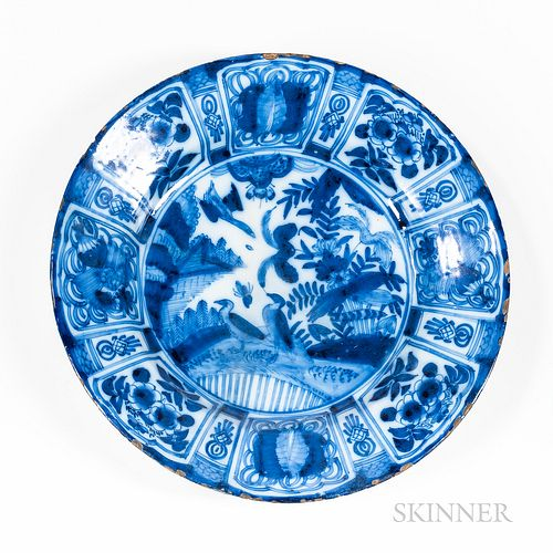 Large Blue and White Delft Charger