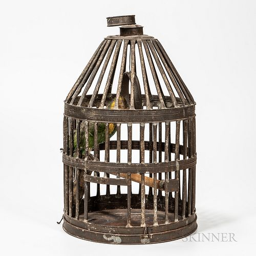 Large Tin Birdcage