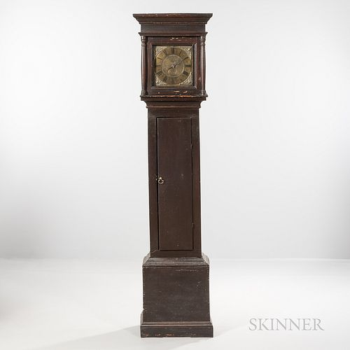 Spanish Brown-painted Tall Case Timepiece