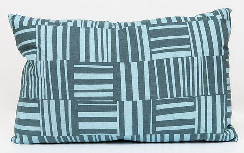 Blue Linen Lumbar Pillow