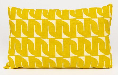 Sunflower Yellow Linen Lumbar Pillow