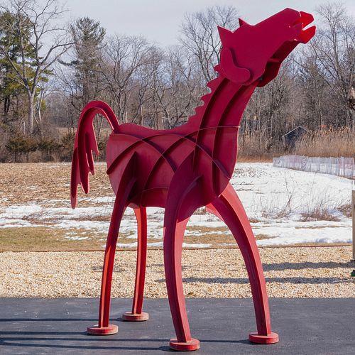 Frederick Prescott (b. 1949): Red Wild Horse II