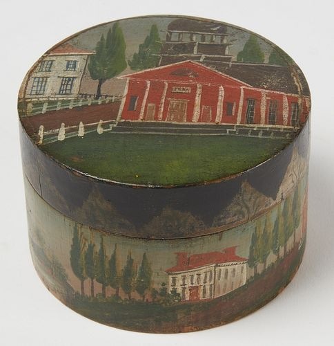 Important Bunker Hill Decorated Trinket Box