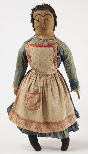 Rag Doll with Blue Printed Dress