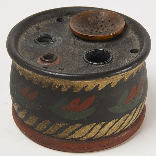 Fine Paint Decorated Treen Ink
