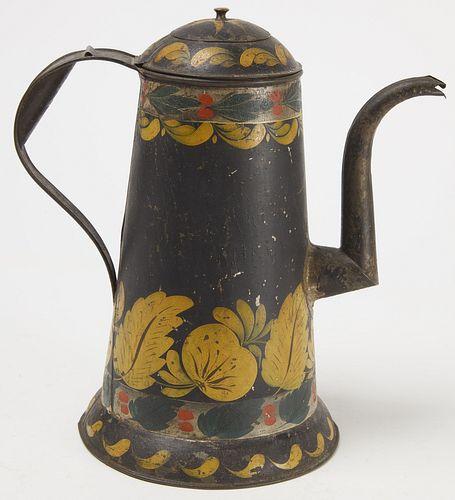 Goose Neck Tole Coffee Pot