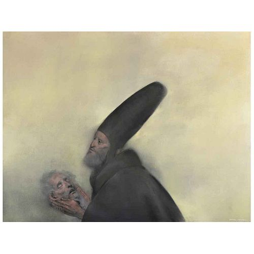 "RAFAEL CORONEL, Untitled, Signed, Oil on canvas, 47.4 x 61"" (120.5 x 155 cm)"