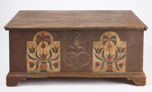 Fine Paint-Decorated Dower Chest - 1783
