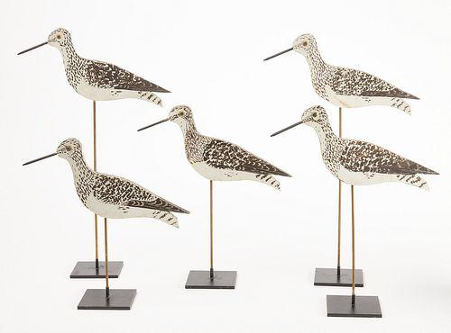 Rig of Five Stick-Up Shorebird Decoys