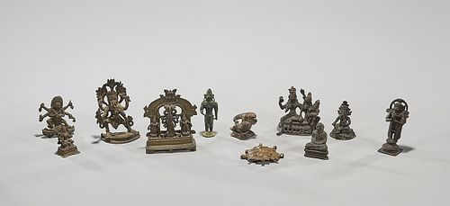 Collection of 18th & 19th Century Tibetan and Indian Miniature Bronzes