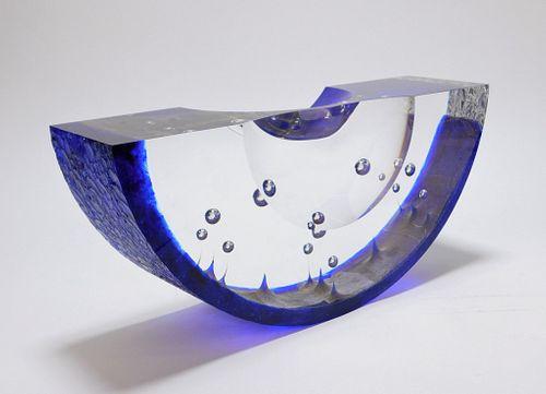 LG Steven Weinberg Cove Boat Glass Sculpture