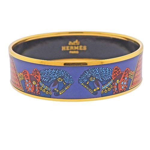 Hermes Enamel Bangle Bracelet