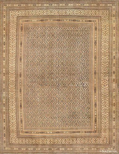 ANTIQUE KHORASSAN PERSIAN RUG 21 ft x 16 ft 6 in (6.4 m x 5.03 m)