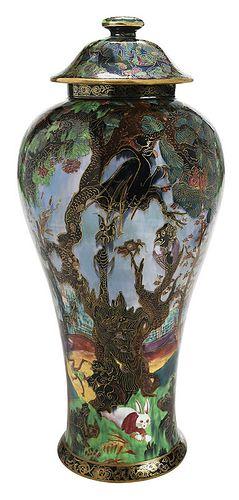 "Wedgwood Fairyland Lustre ""Ghostly Wood"" Vase"