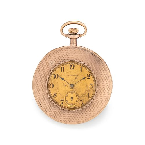 TAVANNES, GOLD-FILLED DEMI-HUNTER POCKET WATCH