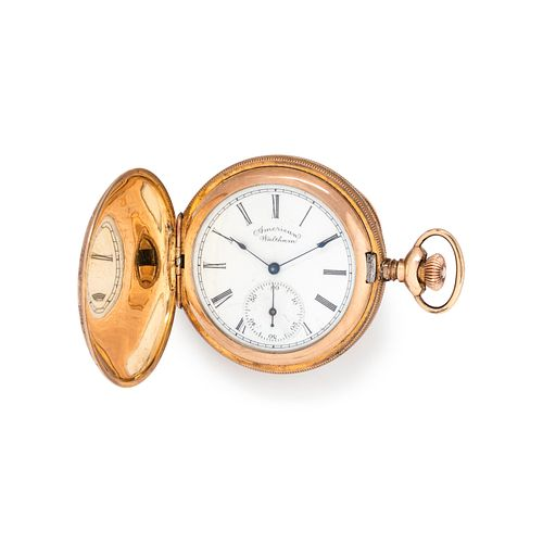 WALTHAM, GOLD-FILLED HUNTER CASE POCKET WATCH