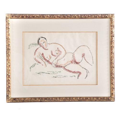 """Alexej von Jawlensky. """"Kauernde,"""" lithograph"""