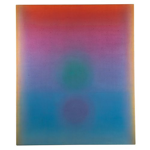 """Leon Berkowitz. """"Night Star,"""" oil on canvas"""