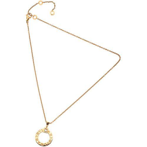 CHOKER AND PENDANT WITH DIAMOND IN 18K PINK GOLD, BVLGARI, BVLGARI BVLGARI COLLECTION 1 brilliant cut diamond