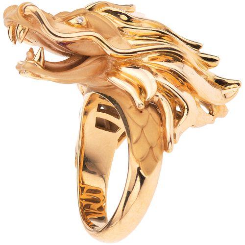 RING WITH DIAMONDS IN 18K YELLOW GOLD, CARRERA Y CARRERA, CÍRCULOS DE FUEGO COLLECTION Size: 6 ¼
