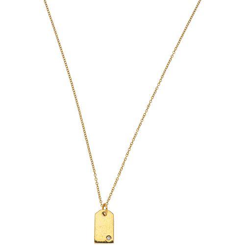 CHOKER AND PENDANT WITH DIAMOND IN 18K YELLOW GOLD, TIFFANY & CO. 1 brilliant cut diamond ~0.015 ct