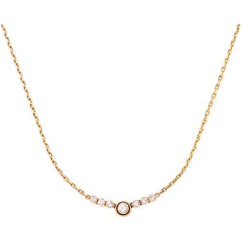 CHOKER WITH DIAMONDS IN 18K YELLOW GOLD 1 brilliant cut diamond ~1.95 ct Clarity: I2-I3 and 6 brilliant cut diamonds