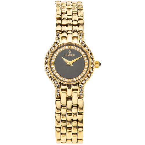 CONCORD LADY WATCH WITH DIAMONDS IN 14K YELLOW GOLD REF. 29-62-264  Movement: quartz. Weight: 39.9 g