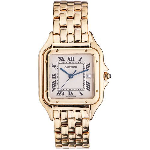 CARTIER PANTHÈRE LADY WATCH IN 18K YELLOW GOLD REF. 106 000 M  Movement: quartz. Weight: 106.2 g