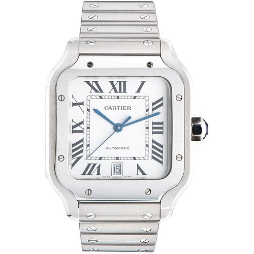 CARTIER SANTOS WATCH IN STEEL REF. 4072 Movement: automatic
