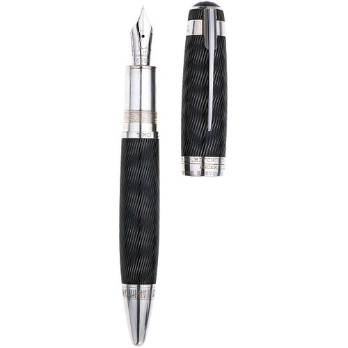 MONTBLANC LIMITED EDITION ALFRED HITCHCOCK FOUNTAIN PEN IN LACQUER AND .925 SILVER