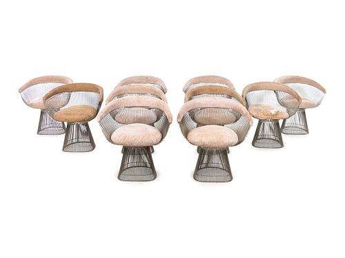 Warren Platner (American, 1919-2006) Set of Ten Dining Chairs, Knoll, USA