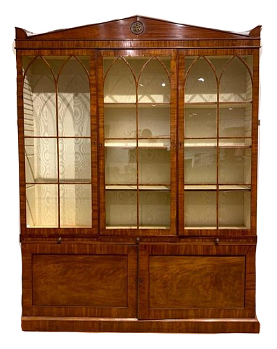 English Regency Secretary Bookcase, Mid. 19thc.