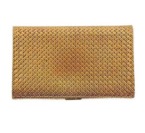 Van Cleef & Arpels 18k Gold Woven Vanity Case Box