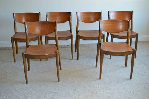 Six John Stuart Dining Chairs c1960s