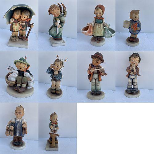 Lot of 10 M.J. Hummel Figurines