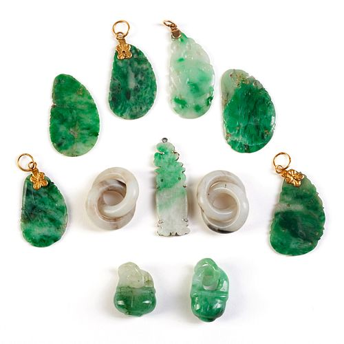 Grp: 11 Small Carved Jade Pieces