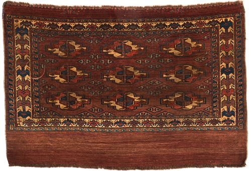 Small Turkish Tekke Rug Carpet
