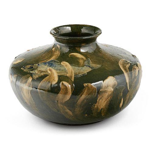 American Limoges Pottery Fish Vase c. 1880s