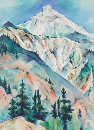 Gene Kloss Mountainous Landscape Watercolor