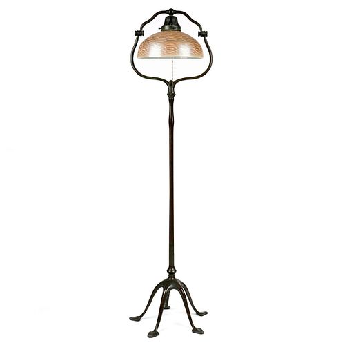 Tiffany Five Footed Bronze Floor Lamp w/ Tiffany Shade