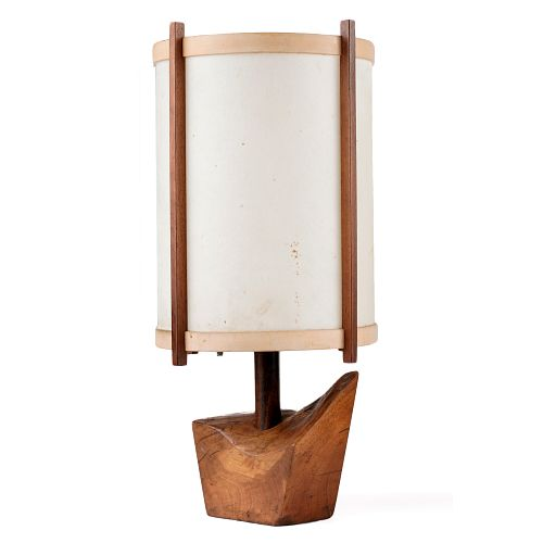 George Nakashima Wooden Table Lamp