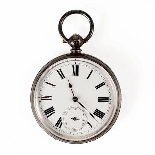 Sterling Open Face Pocket Watch