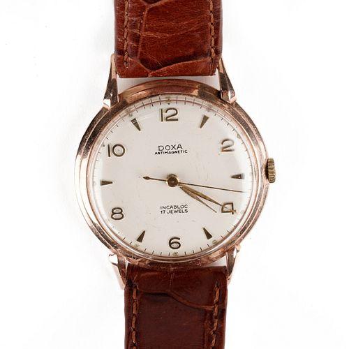 Doxa 14K Gold Wristwatch w/ Hawthorne Movements