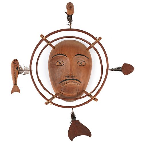 Yupik Native American Wood Mask