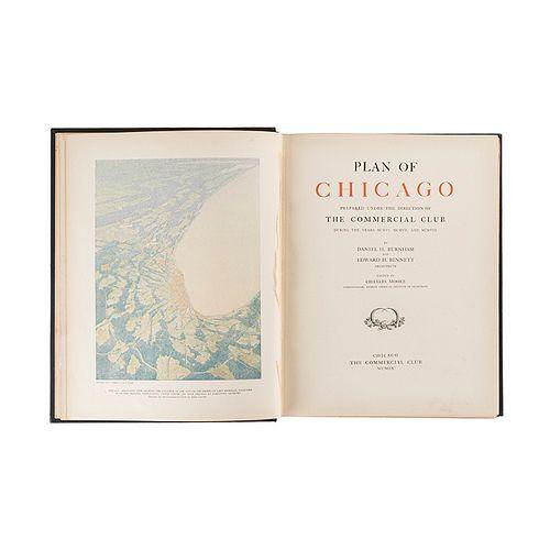Burnham, Daniel - Bennett, Edward. Plan of Chicago. Chicago, 1909. Edición de 1650 ejemplares.