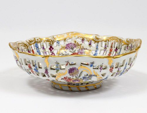 LUDWIGSBURG RETICULATED PORCELAIN BOWL