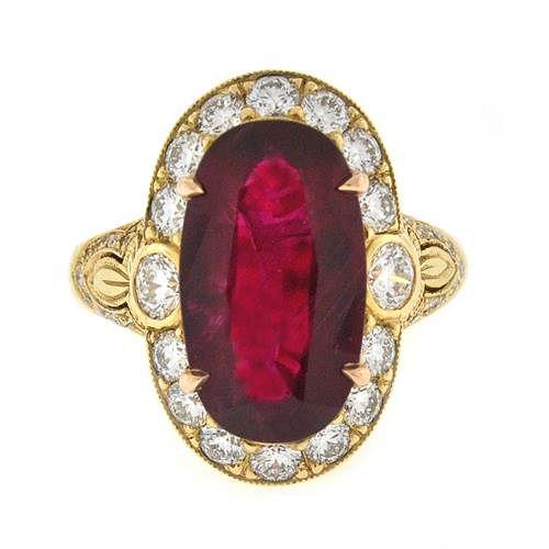 5.51 Ct Ruby & Diamond Ring
