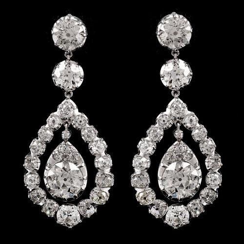 17.14 Ct Diamond Chandelier Earrings